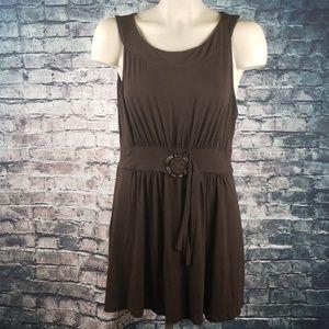 Michael Kors Dresses - Michael Kors Brown Mini Dress Buckle Large